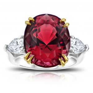 15.13 Carat Oval Red Spinel Ring