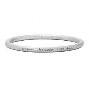 "Angela Mantra STD Bangle ""I AM LOVE I AM LIGHT I AM PEACE"""