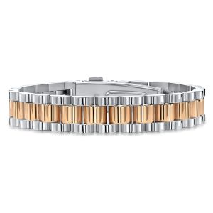 Two Tone Mens Stainless Steel Bracelet
