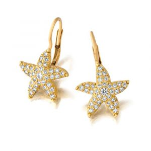 18k Yellow Gold And Diamond Earrings  E2499Y-LB