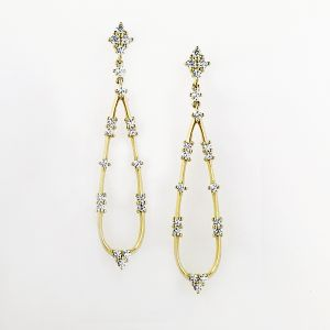 18k Yellow Gold And Diamond Earrings E2558Y
