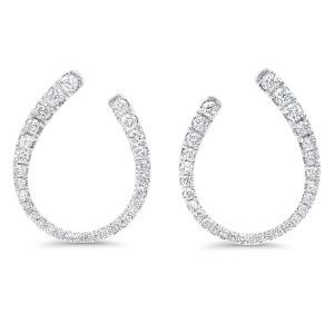 14K White Gold Classic Diamond Studs