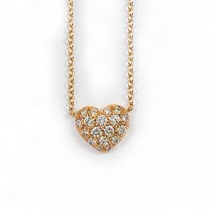 20k Pink Gold And Diamond Heart H433PG
