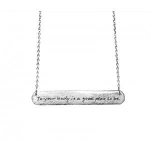 In Your Body...  BEATRIX OST BAR TAG NECKLACE