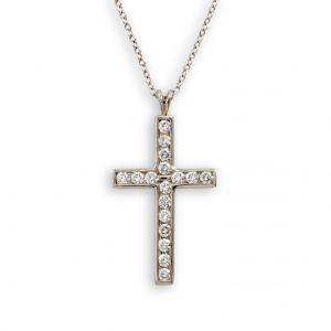Platinum And Diamond Cross N7334P