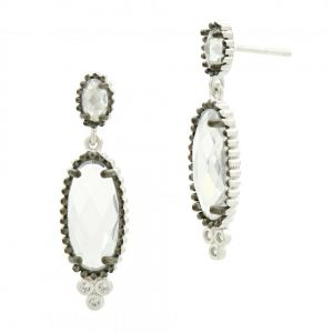 Signature Elongated Drop Earring PRZE020325B-14K