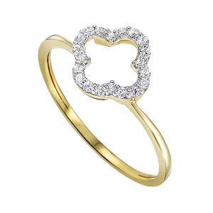 14K White Gold Single Round Diamond Ring