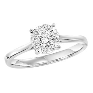 14K White Gold Diamond Solitaire Styled Ring