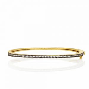 Signature Thin Pav_ Hinge Bangle