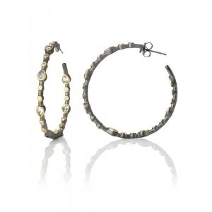 Signature Teardrop Hoop Earrings YRZE020020B-1