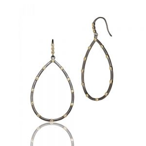 Signature Bezel Teardrop Earrings YRZE020107B