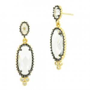 Signature Elongated Drop Earring YRZE020325B-14K