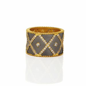 Signature Geo Stripe Cigar Band Ring